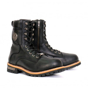 "Hot Leathers Men's 8"" Two-Tone Logger Boots"