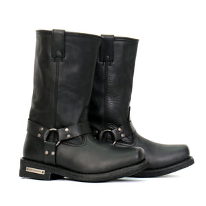 "Hot Leathers Men's 11"" Black Harness Boots"