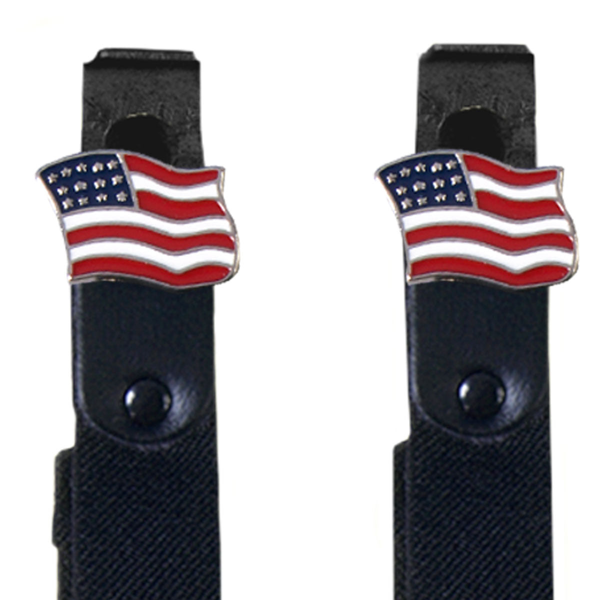 Hot Leathers American Flag Motorcycle Riding Pant Clips