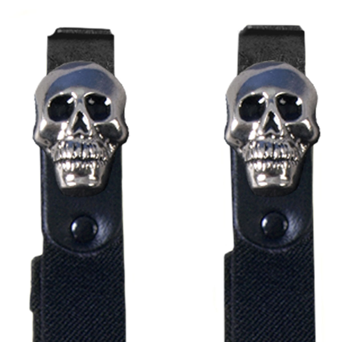 Hot Leathers Skull Motorcycle Riding Pant Clips