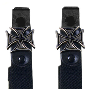 Hot Leathers Iron Cross Motorcycle Riding Pant Clips
