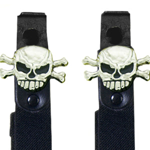 Hot Leathers Skull N' Bones Motorcycle Riding Pant Clips