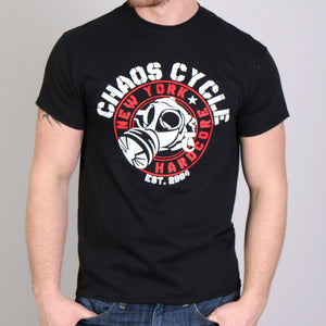 Official Chaos Cycle Gas Mask Logo T-Shirt