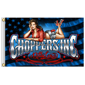 Official Billy Lane's Choppers Inc Pin Up Relax Flag