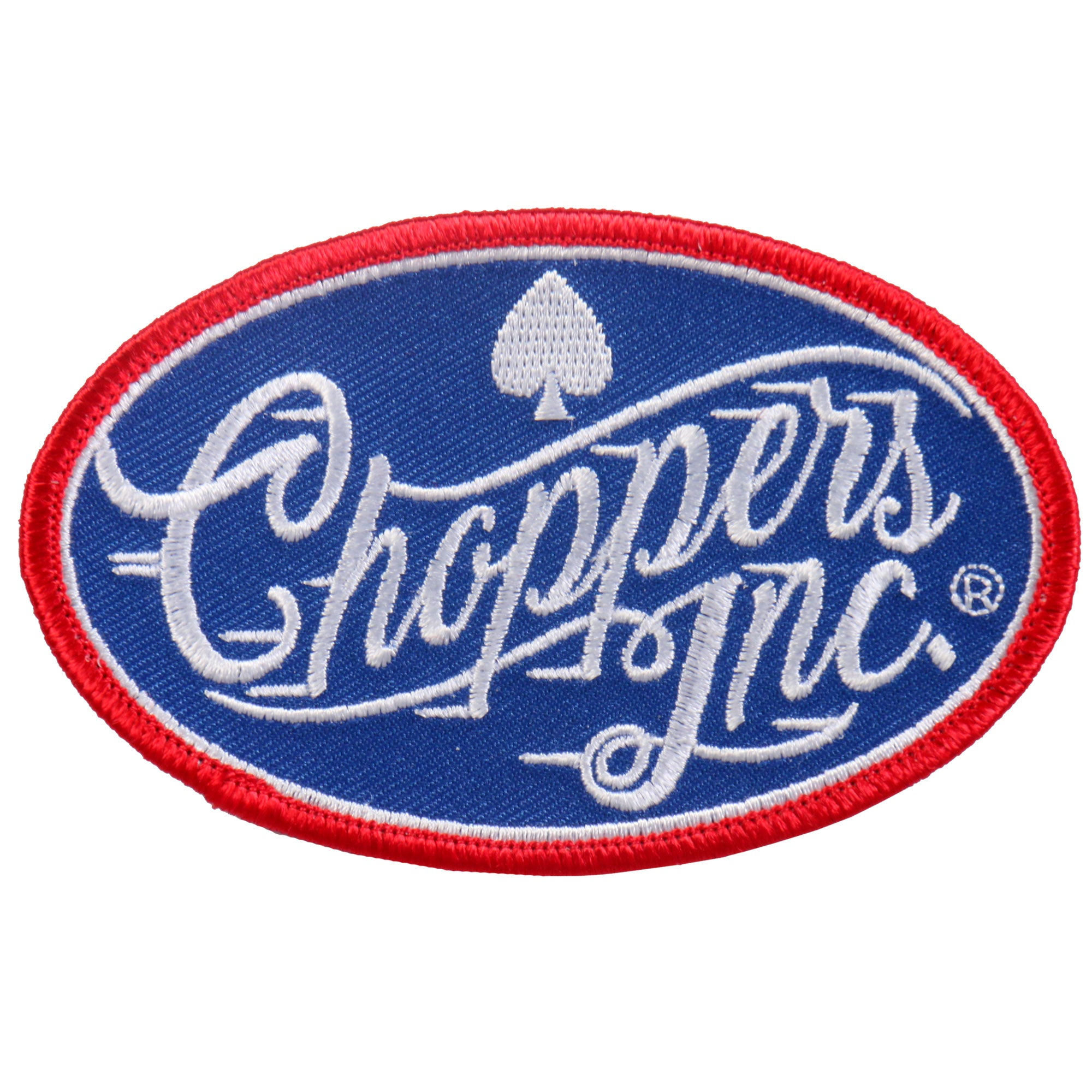 Official Billy Lane's Choppers Inc Red and Blue Vintage Racing Patch