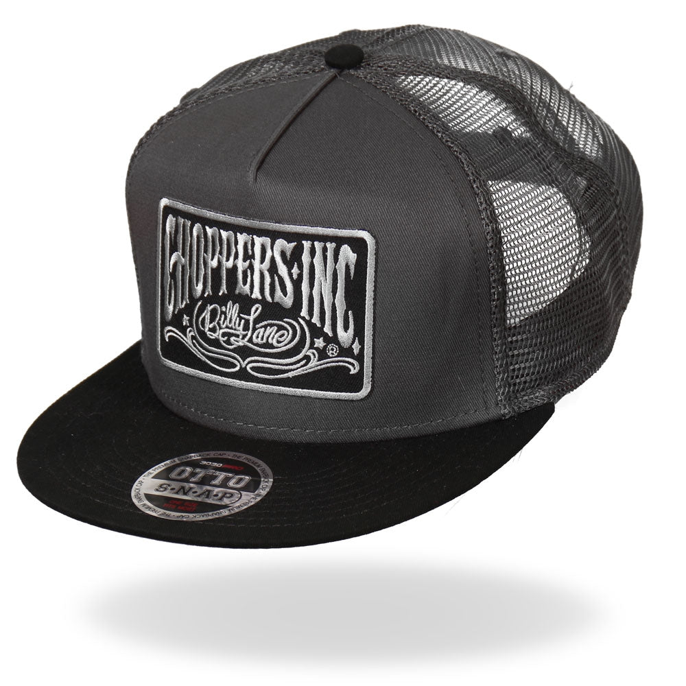 Official Billy Lane's Choppers Inc Gray Logo Snapback Ball Cap