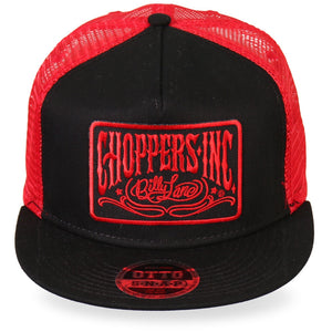 Official Billy Lane's Choppers Inc Logo Red Snapback Ball Cap