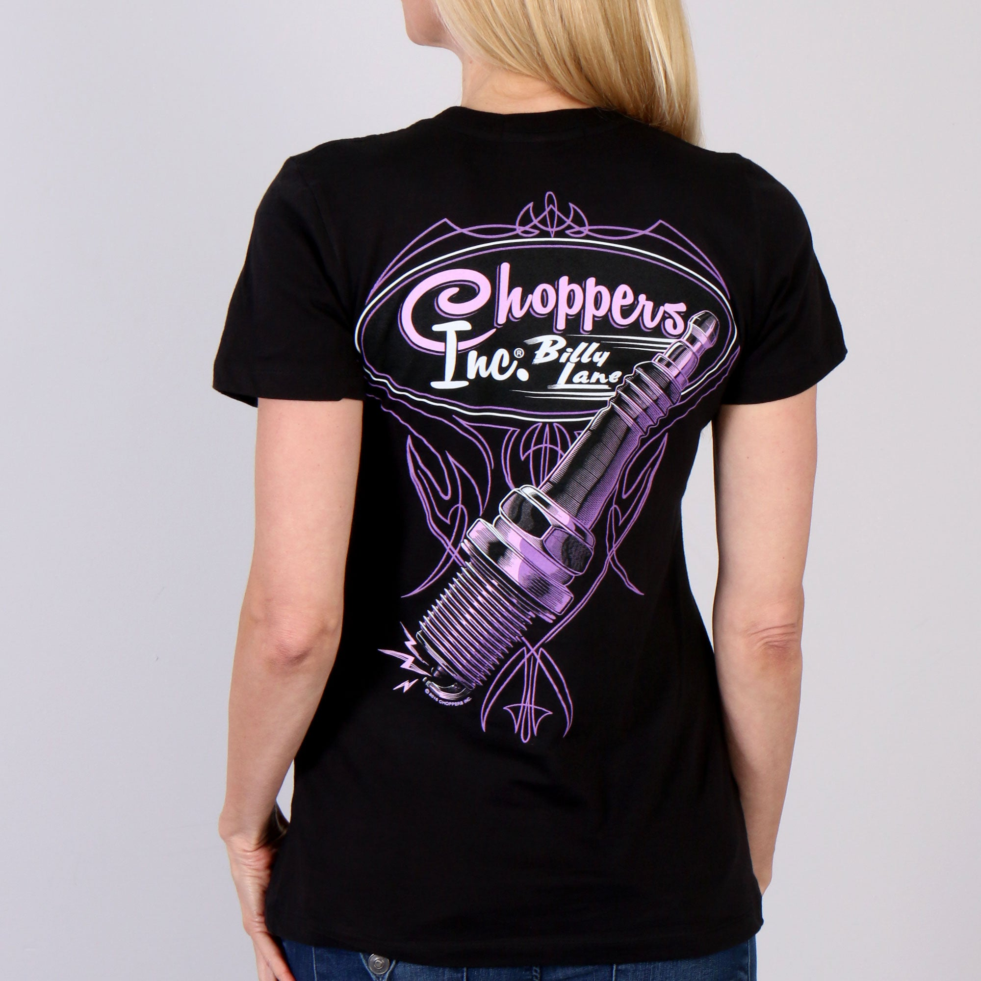 Official Billy Lane's Choppers Inc Spark Plug Ladies T-Shirt