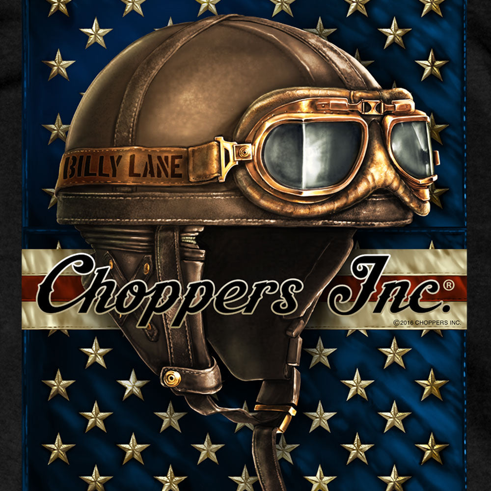 Official Billy Lane's Choppers Inc Vintage Goggles Black T-Shirt