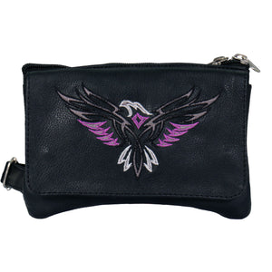 Hot Leathers Embroidered Clip Pouch Purse with Eagle