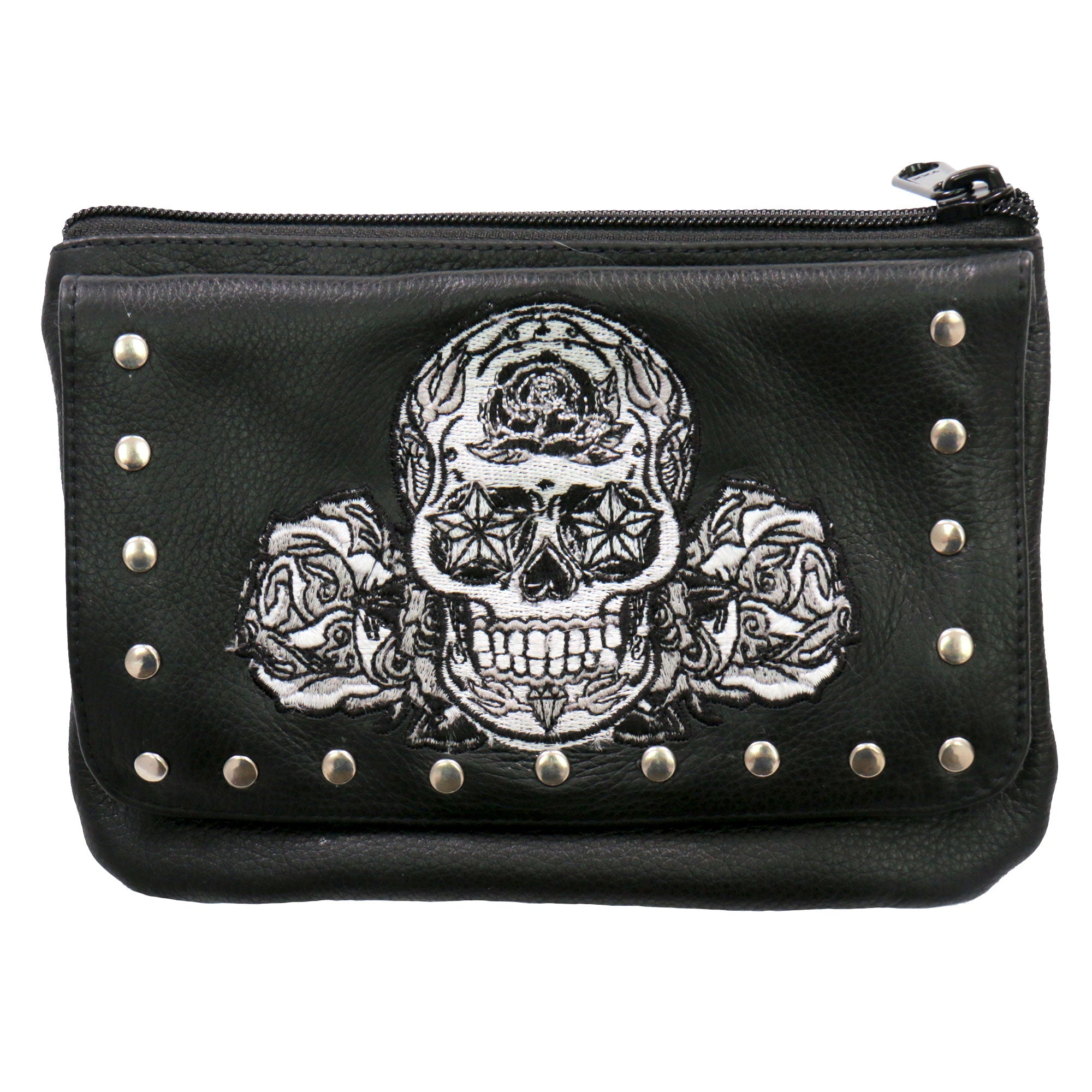Hot Leathers Sugar Skull Clip Pouch