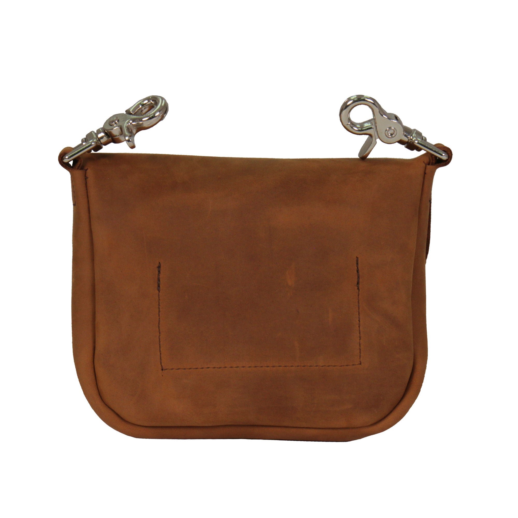 Hot Leathers Distressed Brown Leather Clip Pouch Purse