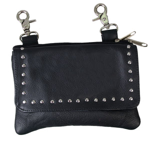 Hot Leathers Magnetic Clip Pouch Purse with Studs