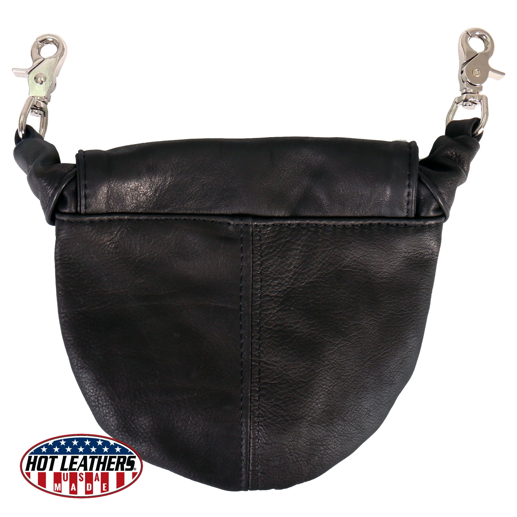 Hot Leathers USA Made Premium Leather Fold Over Clip Pouch