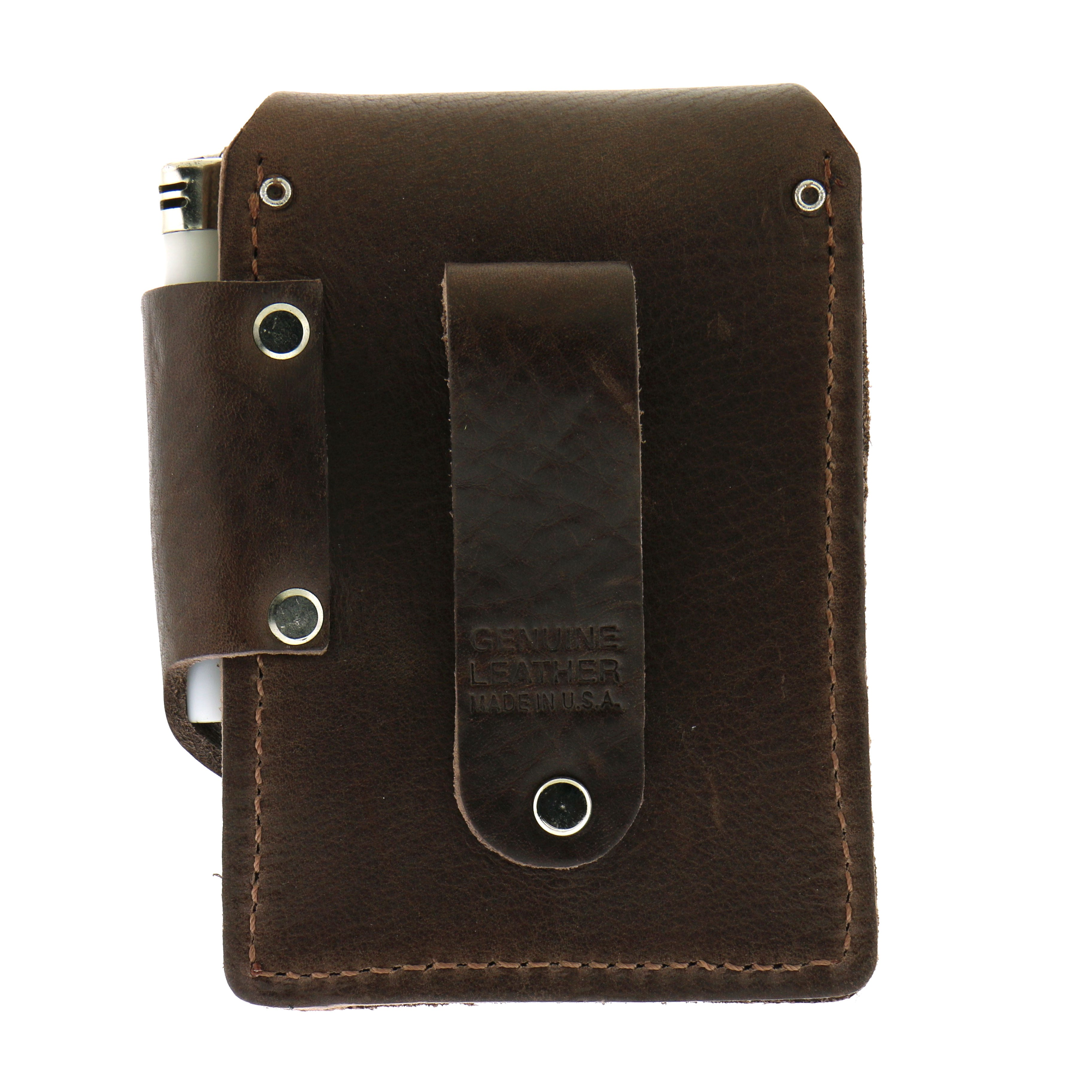 Hot Leathers Brown Leather Cigarette Case