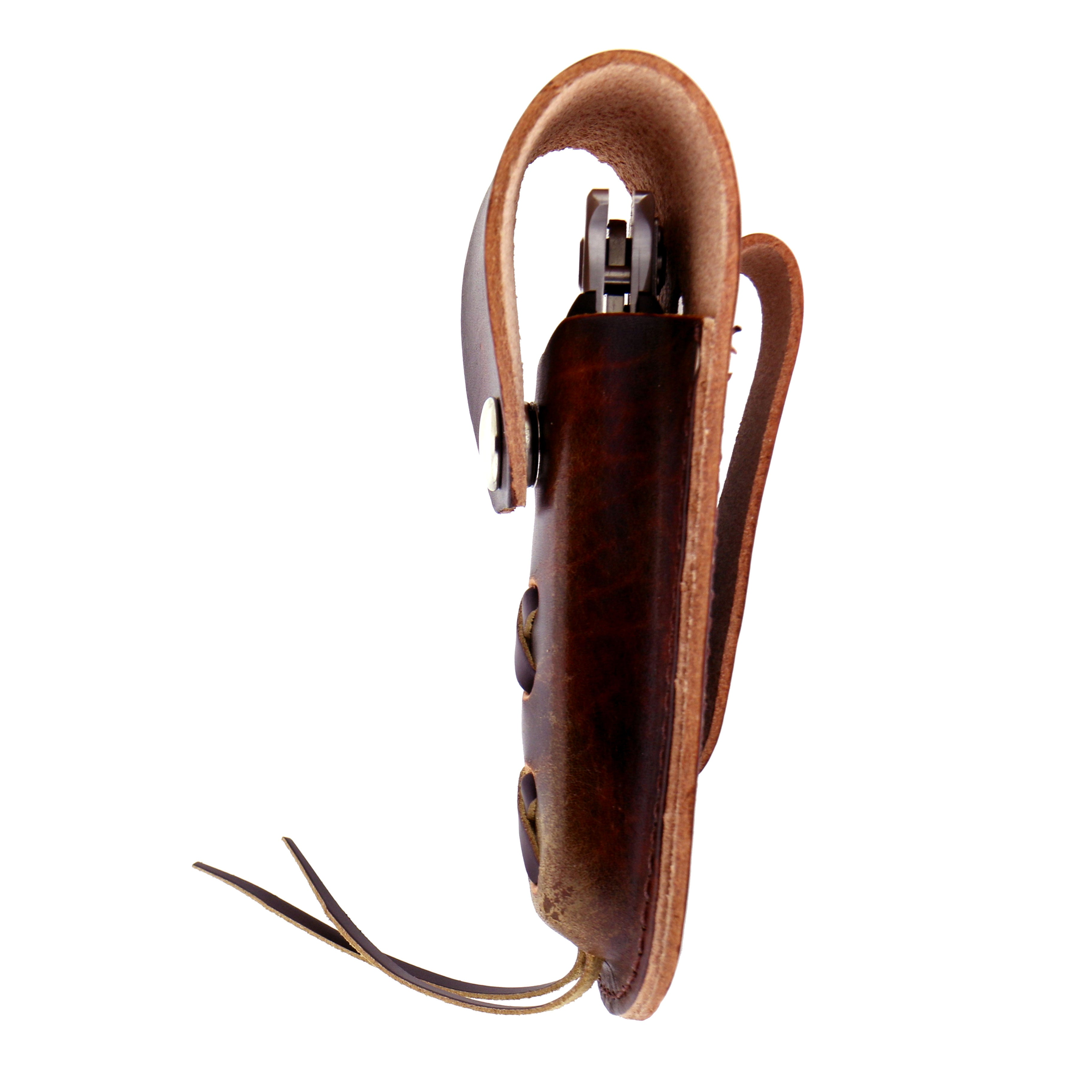 Hot Leathers Brown Leather Laced Knife Case