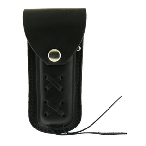 Hot Leathers Black Leather Knife Case with Snap Closure