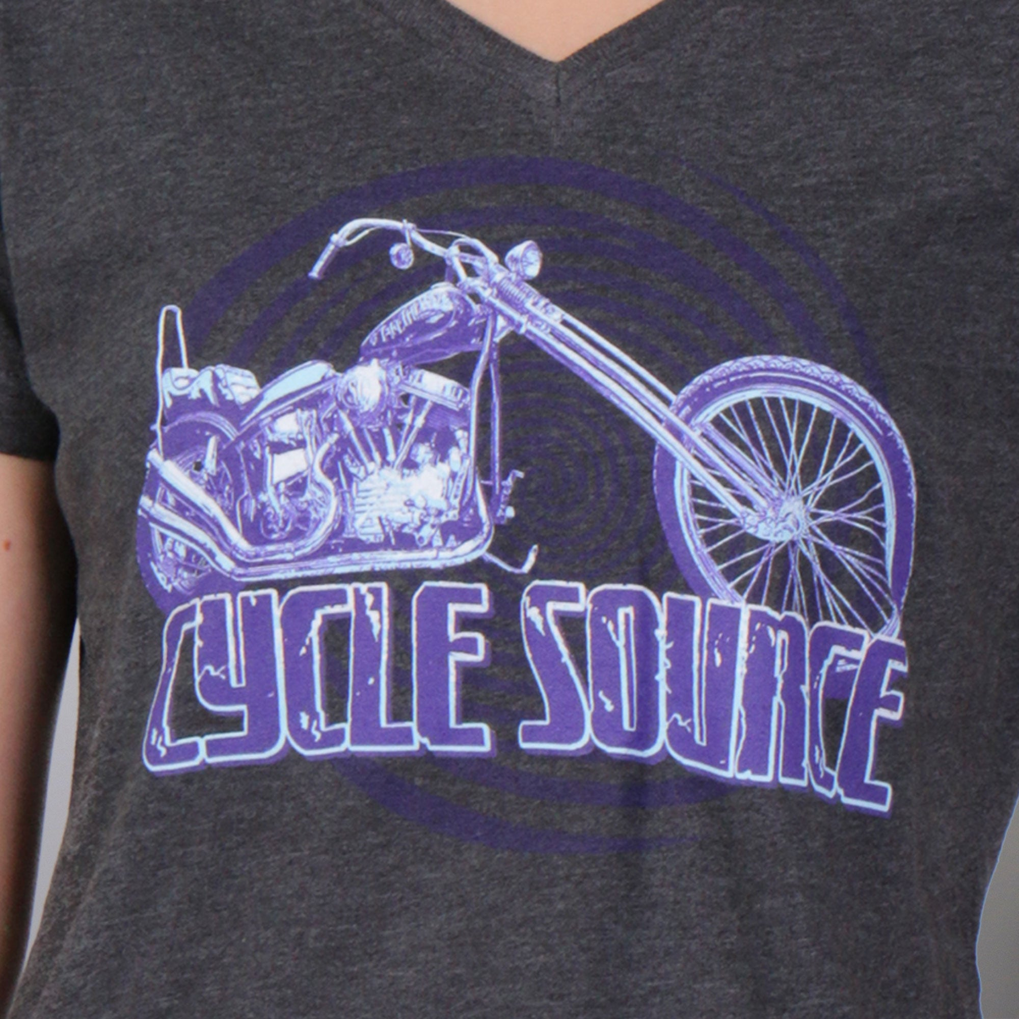 Official Cycle Source Magazine Chopper Lady T-Shirt