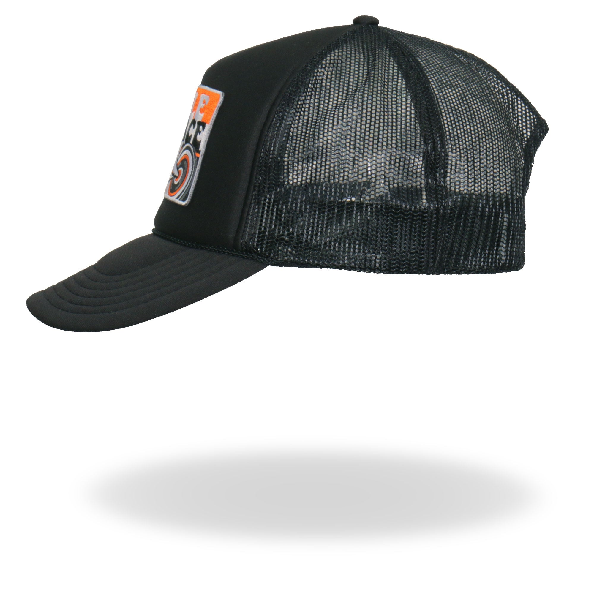Official Cycle Source Magazine Stripes Retro Wing Wheel Logo Trucker Hat