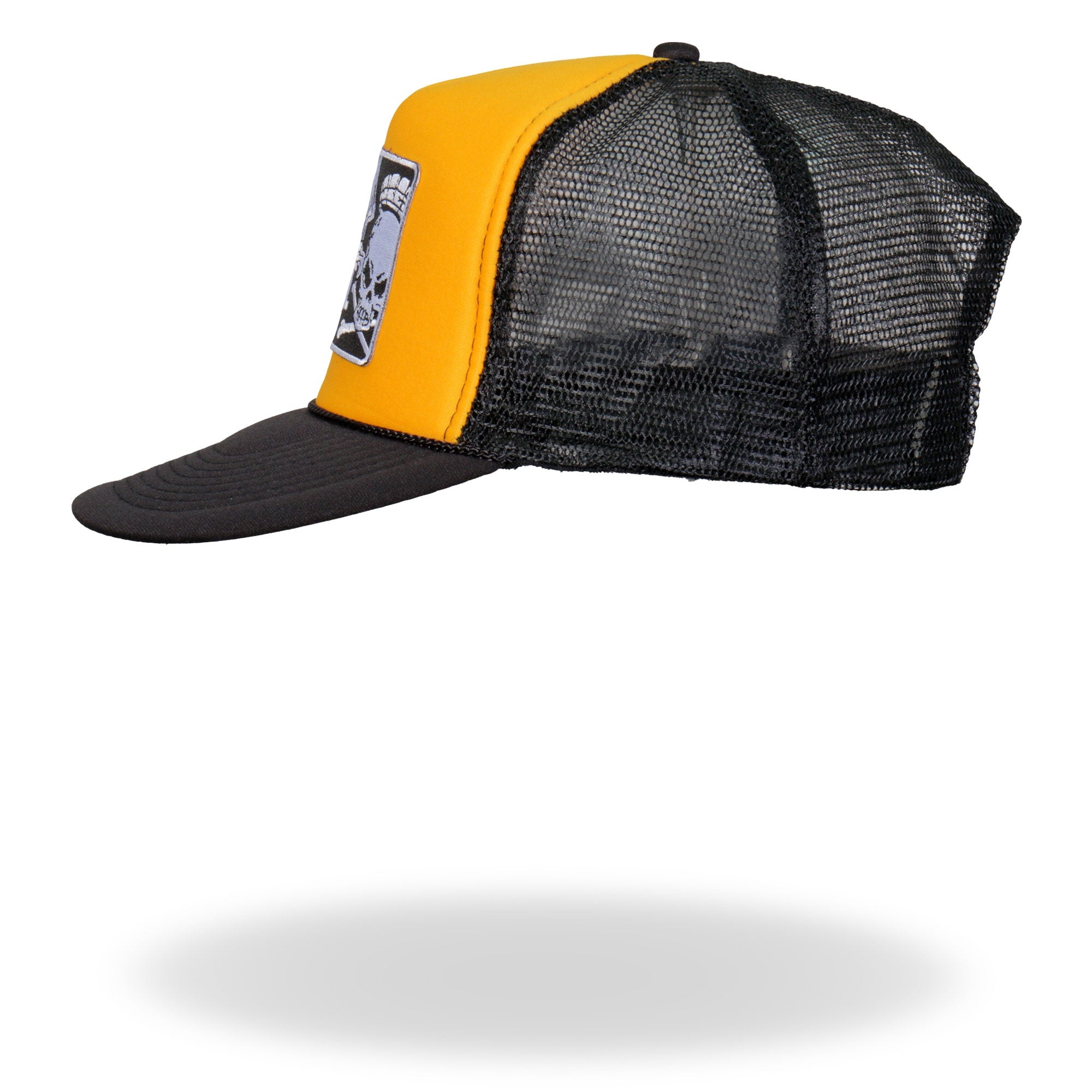 Official Cycle Source Magazine Logo Gold and Black Trucker Hat