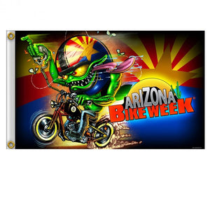 Official Arizona Bike Week Bobber Monster Flag