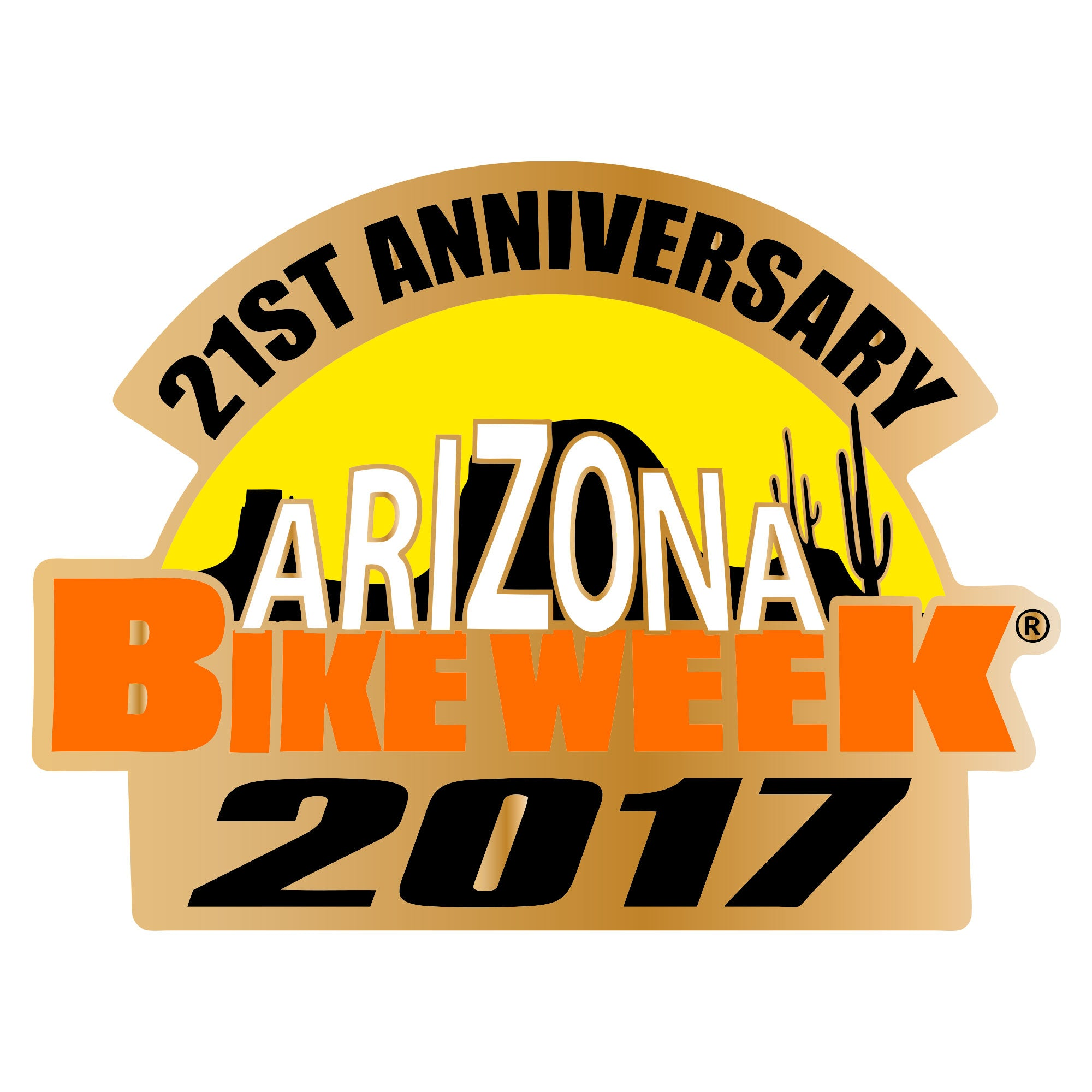 Offical 2017 Arizona Bike Week Logo Pin