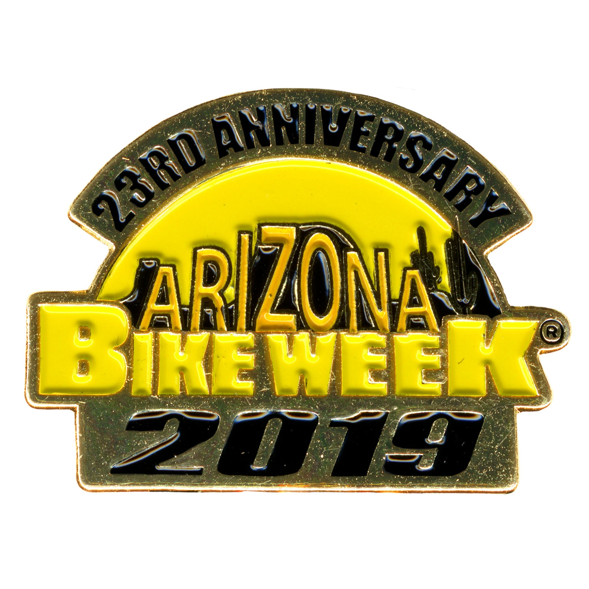 Official 2019 Arizona Bike Week Logo Pin