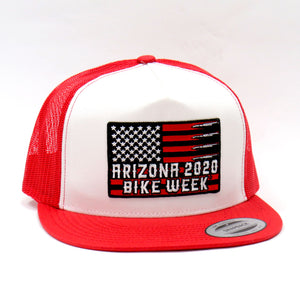 AZBW 20 FLAG BULLETS HAT R/W