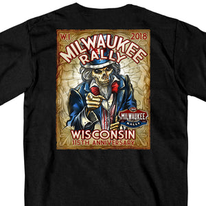 Official 2018 Milwaukee Rally Uncle Sam T-Shirt