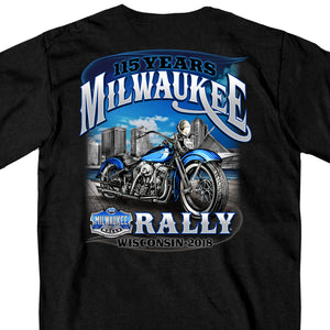 Official 2018 Milwaukee Rally Skyline Black T-Shirt