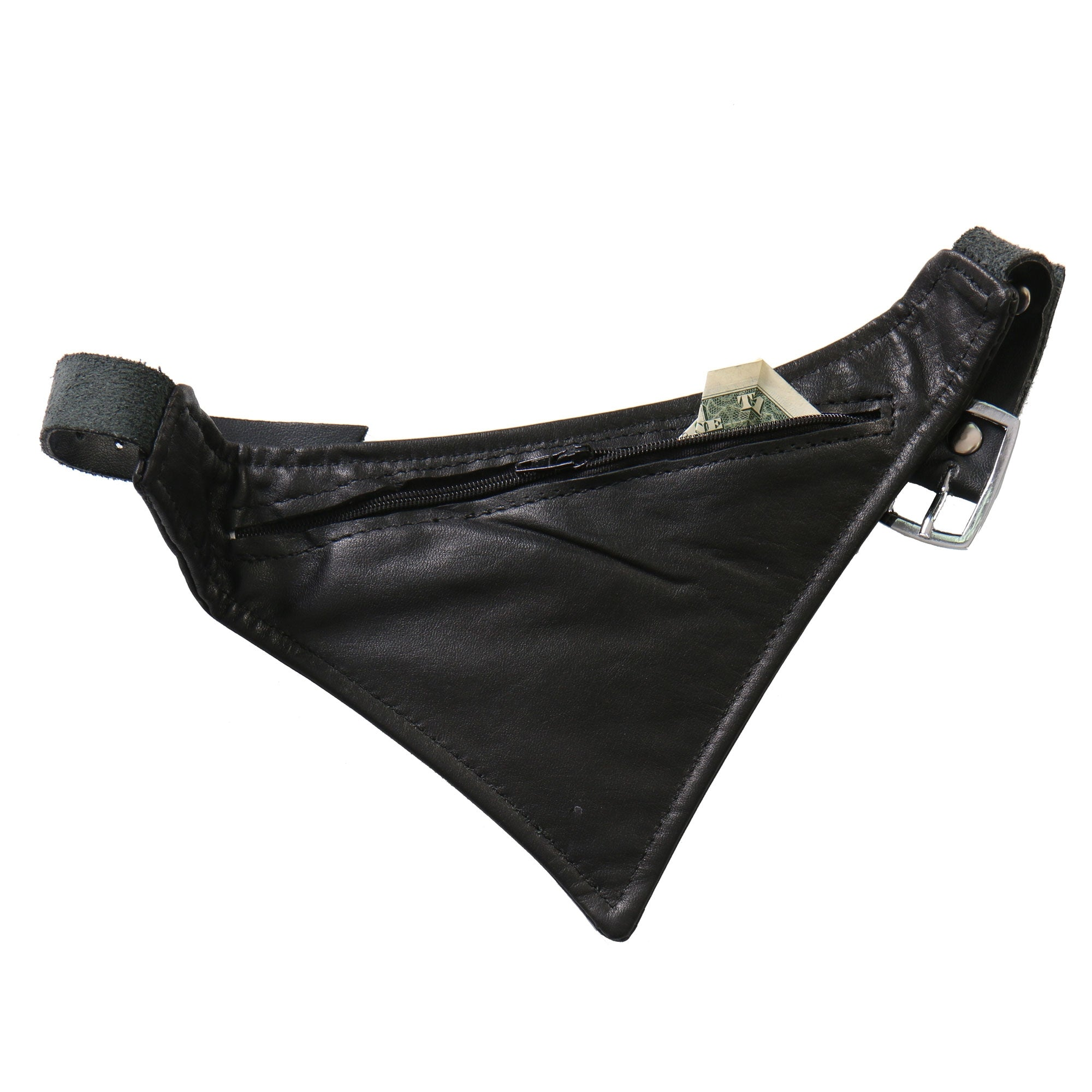 Hot Leathers Black Leather Boot Scarf