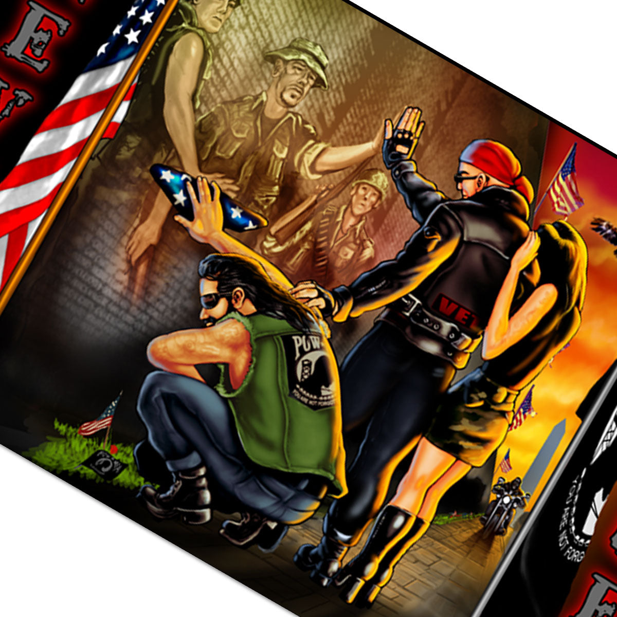 Hot Leathers Vietnam Wall Flag