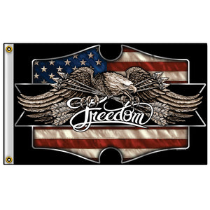 Hot Leathers Freedom Eagle Flag