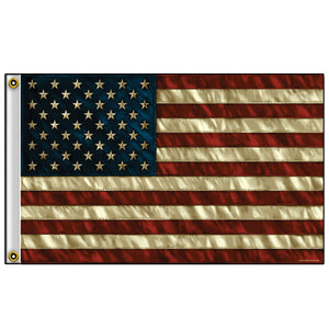 Hot Leathers Vintage American Flag