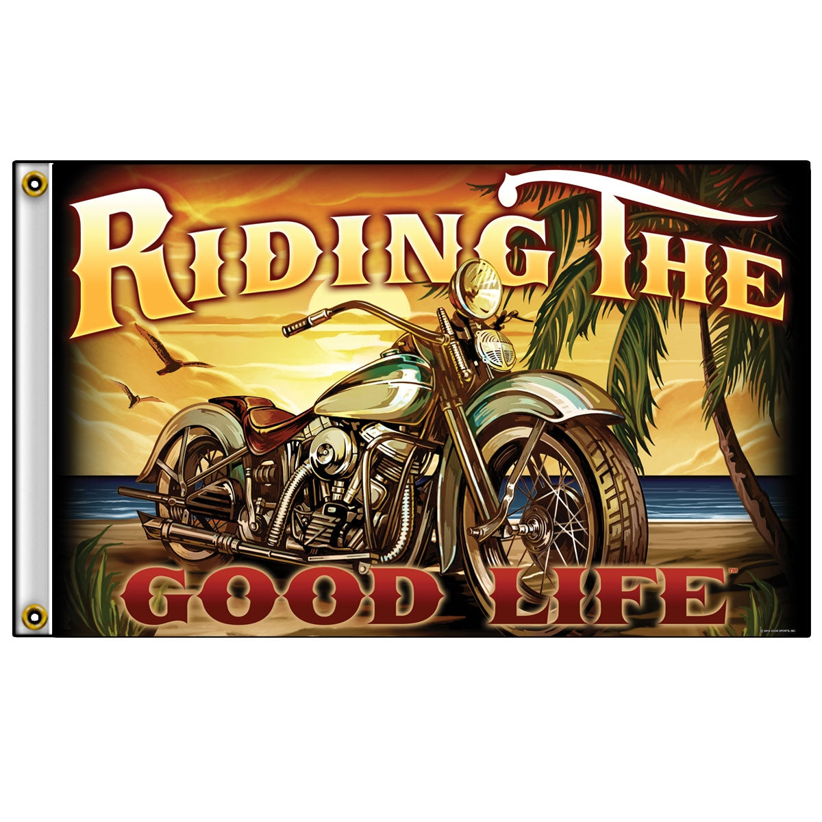 Hot Leathers Riding the Good Life Flag