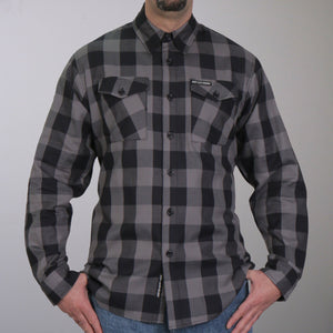 Hot Leathers Black and Gray Long Sleeve Flannel