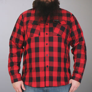 Hot Leathers Black and Red Long Sleeve Flannel