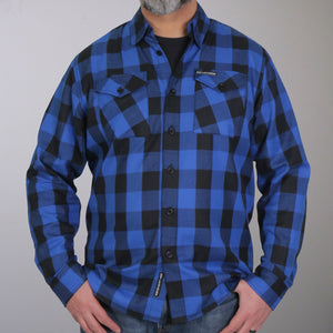 Hot Leathers Black and Blue Long Sleeve Flannel