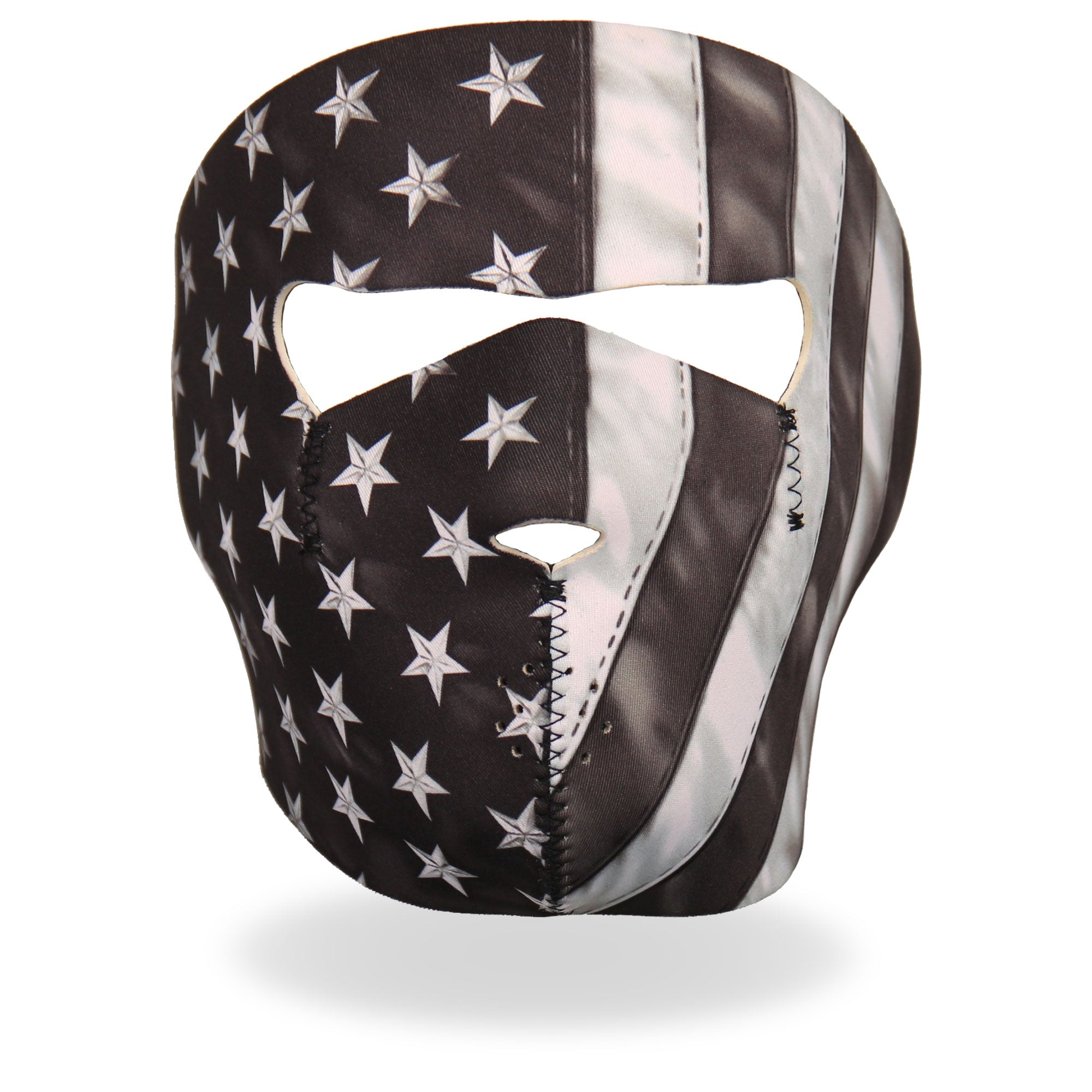 Hot Leathers Black and White Face Mask