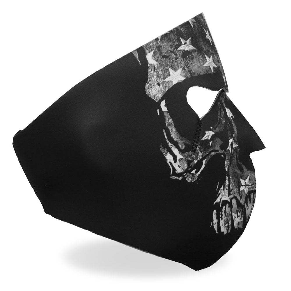 Hot Leathers Gray Skull Flag Face Mask