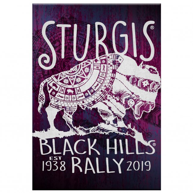 Official 2019 Sturgis Motorcycle Rally Buffalo Symbol Magnet