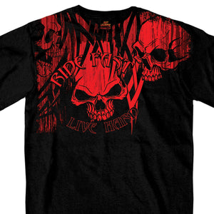 Hot Leathers Over the Top Skull T-Shirt