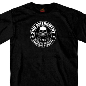 Hot Leathers 2nd Amendment America's Original Homeland Security™ Black T-Shirt