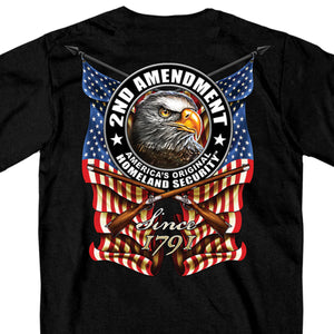 Hot Leathers New Down Flag T-Shirt