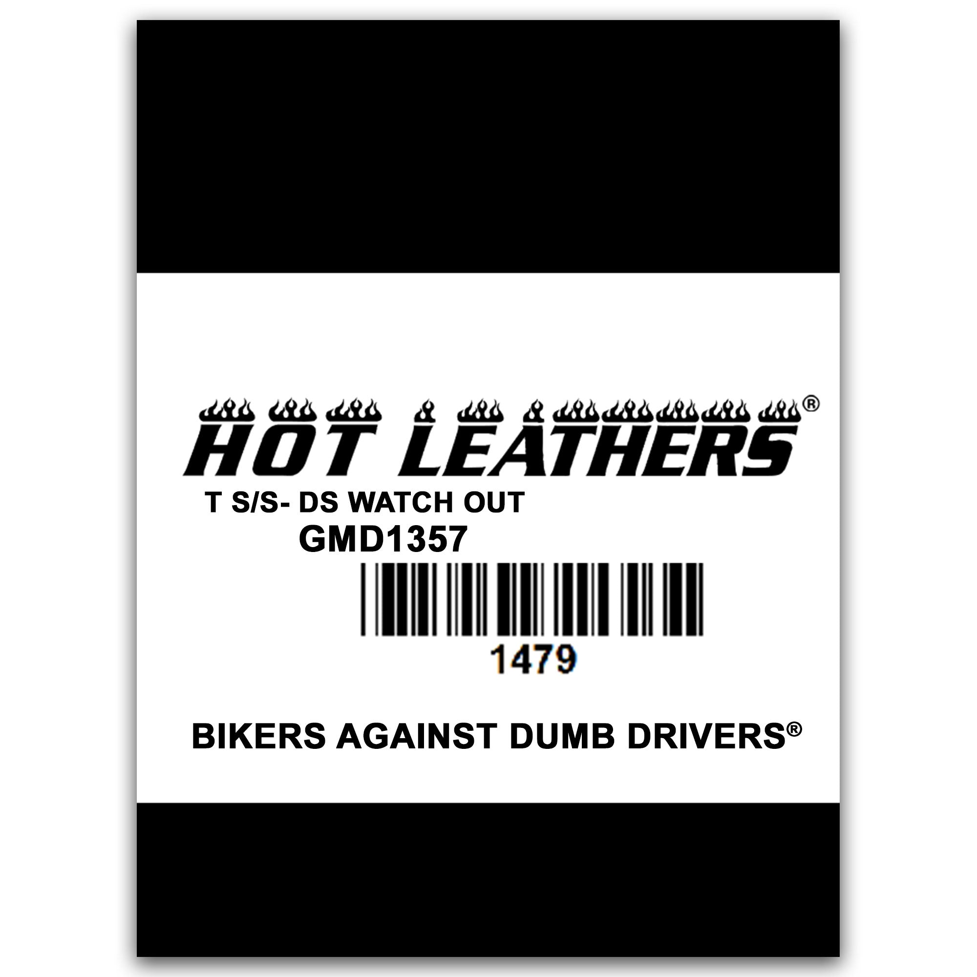 Hot Leathers Watch Out Double Sided Men's T-Shirt