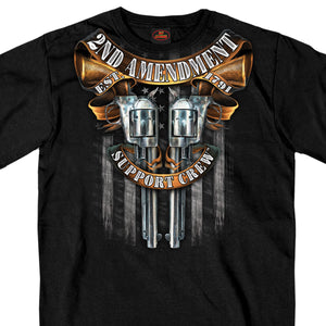 Hot Leathers Crossed Pistols Short Sleeve Double Sided Shirt