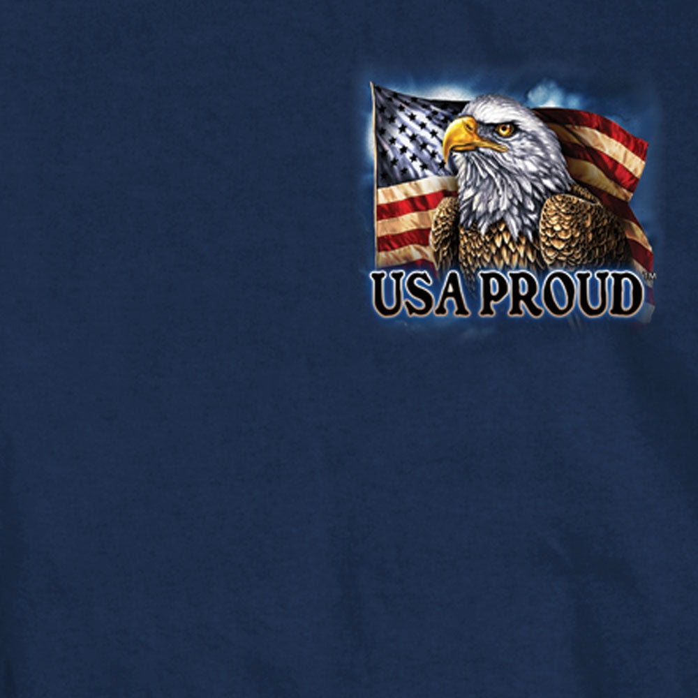 Hot Leathers Land of the Free USA Proud Eagle T-Shirt
