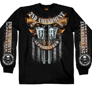 Hot Leathers Crossed Pistols Long Sleeve