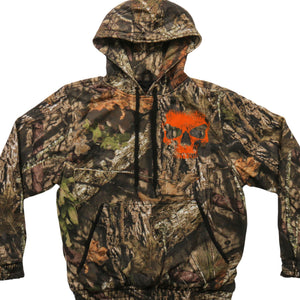 Mossy Oak & Hot Leathers Mashup Skull Jungle Camo Hooded Sweatshirt