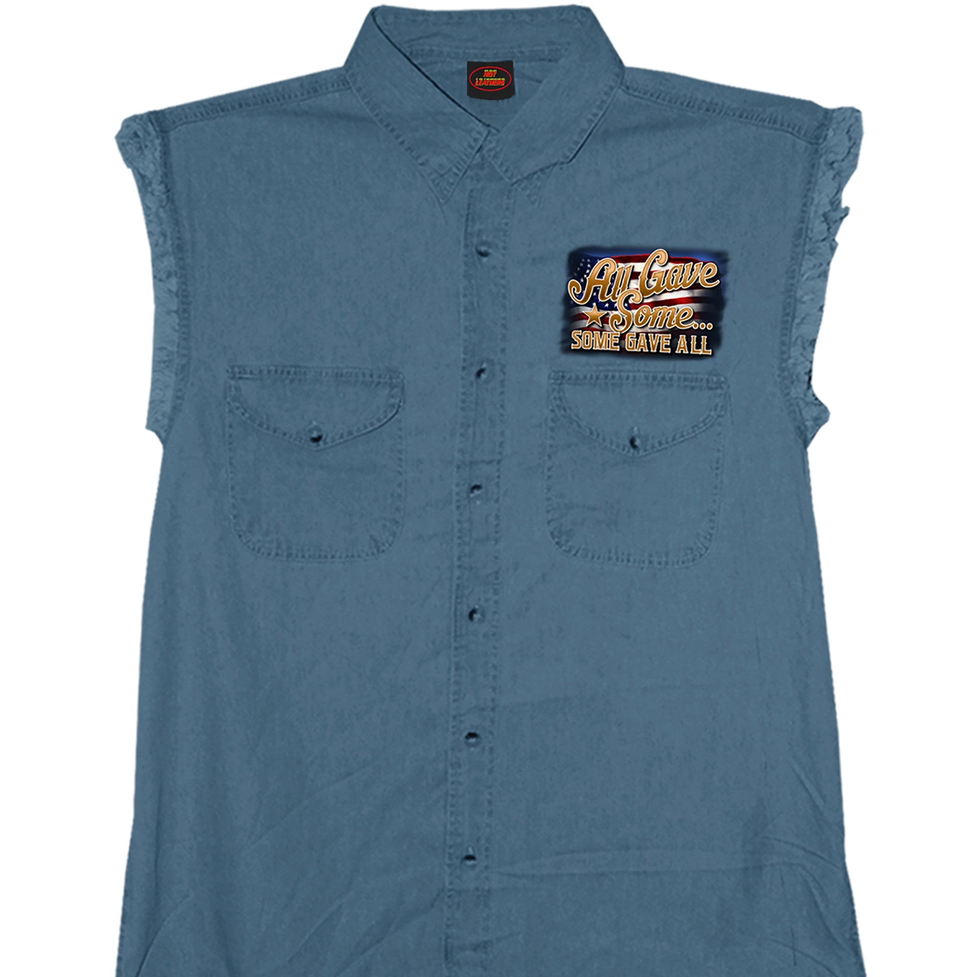 Hot Leathers Remembrance Sleeveless Denim Shirt